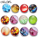 New Snap It Jewelry Ying Yang, Smooches,Heaven and Earth 18mm Glass Snap Button - 19 Styles