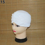 1940's Starlet Stretchy Pleated Turban Head Wrap - Hello Hollywood! 17 Colors