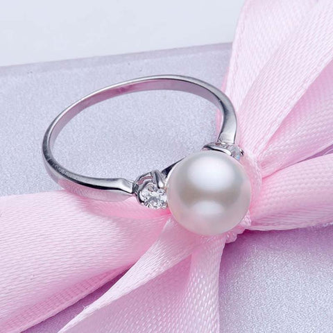 100% Natural Pearl Ring 3 Styles - Resizable! Only $9.99 Sale Ends 12.12.19