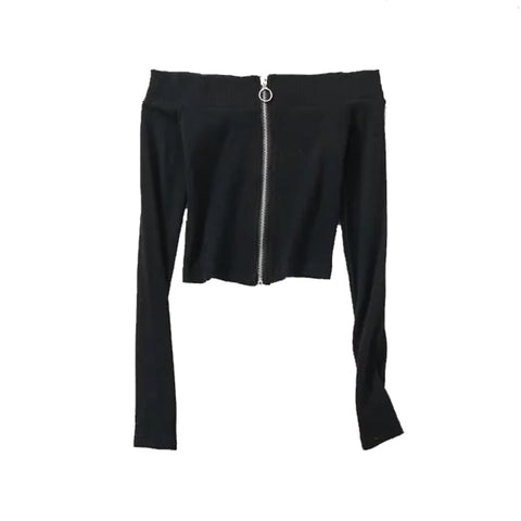 Le Palais Vintage - The Formally Informal Snug Slash Shoulder Zipper Jacket