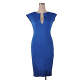Chic Deep Vee Elegant Dress in Red, Blue or Black
