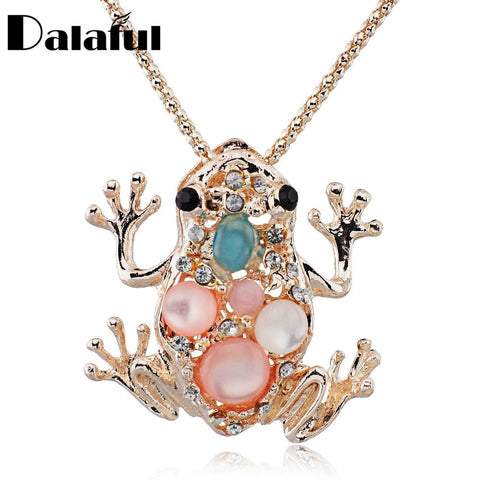 Auspicious & Lucky Crystal Frog Necklace