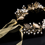 Crystal Vine, Leaves Crown Head Piece - New Year's Eve Accoutrement