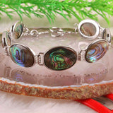 Natural New Zealand Abalone Shell Bracelet 7-8.5""