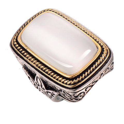 "Our ""Oh, Honey!""Pearl shell 925 sterling silver Ring"