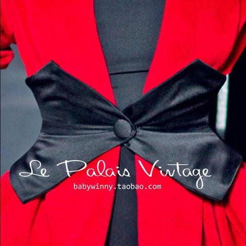 Black Currently Sold Out! Le Palais Vintage Limited Retro black Bone Girdle: 3 Colors - Black, White or Red
