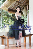 Le Palais Vintage's Play On Plaid 1950's PIN UP Strapless Dress
