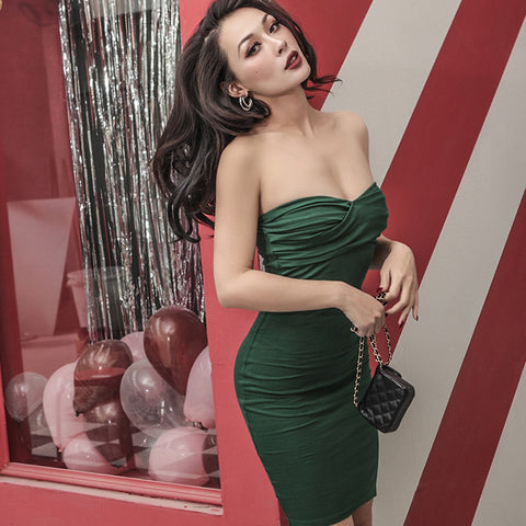 1795def23717 Le Palais Vintage - Very Sexy Strapless Dress In 4 Colors  Green ...
