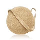 Big Circle Straw Handbag, Beach Bag or Purse