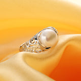Fleur de Lis -100% Real Freshwater Pearl Rings: 5 Colors and Adjustable!