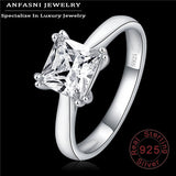 100% .925 Sterling Silver Radiant Rings With CZ: 6 Styles - Add'l 35% off!