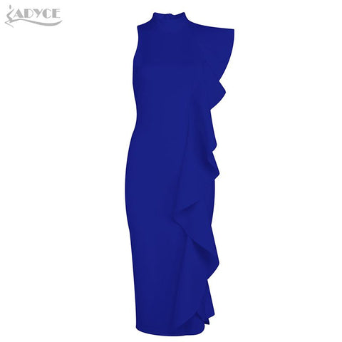"Adyce ""Flamenco Dancer Dress"" With Irregular Ruffle In 4 Colors: White, Pink, Blue, Black,"