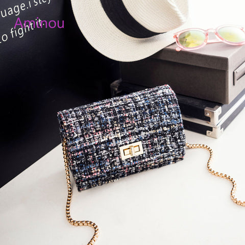 115aa5d13e6fa Aminou - Woolen Bags With Chain Shoulder Strap  4 Colors  Coco Chanel wants  one