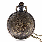 Hot Japanese Animation Naruto Theme Bronze Quartz Pendant Pocket Watch With Necklace Chain