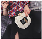 Perfume Bottle Shaped Mini Clutch - Be Oh So Coco