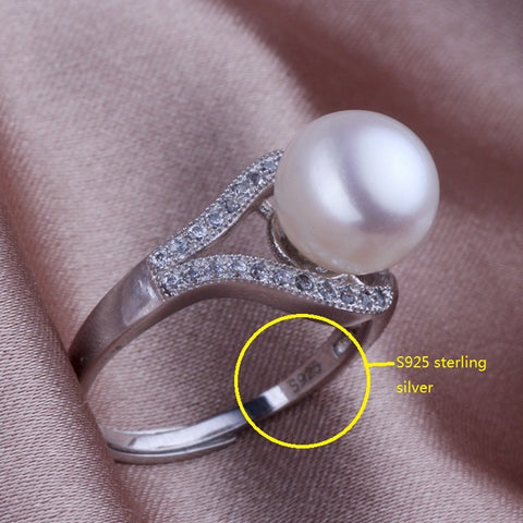 100% Freshwater Pearl ADJUSTABLE Ring In White, Pink or Purple - Fantastic Deal
