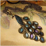 Glam Peacock Necklace
