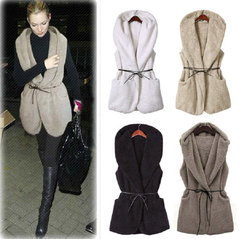 """You'll Take Me Everywhere"" Wool Vest Thigh Grazing Jacket With Tie Waist - 4 colors!"