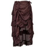 Goth, Steampunk, Victorian Brown or Asymmetrical Peekaboo Curtain Style Front Ruffle (small - XXL)