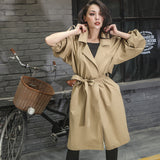 Le Palais Vintage - The Boyfriend Oversized Trench Coat in Green and Khaki - A Bit Brit