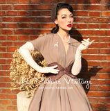Le Palais Vintage -  Retro Tan Big Swing Dress