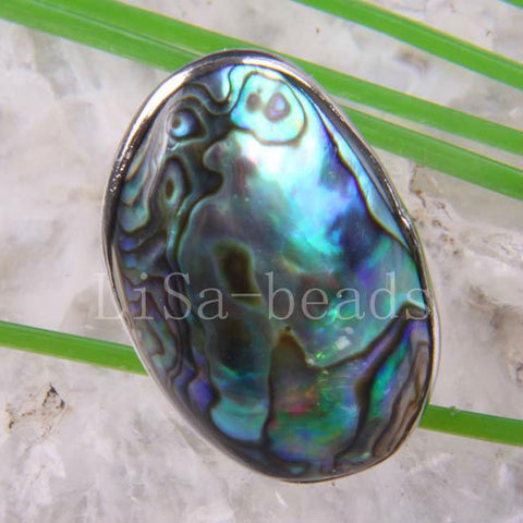 New Zealand Abalone Shell Ring  - It's F-ing Adjustable Kill at Coachella