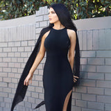 "Adycee -""Our Favorite"" Classy and Sassy Bandage Bodycon Dress With Cape: Pink or Black"