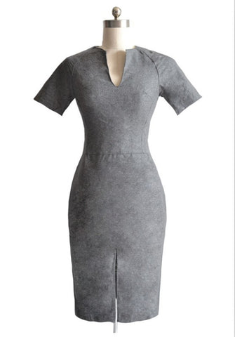 "Gray ""Outta My Way"" Bandage Dress"