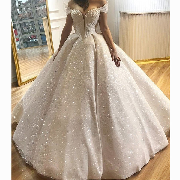 2018 Vintage Cap-Sleeves Ball Gown For Special Parties Sequins Hallowmas Party Dress Custom Made V-Neck Floor-Length Vestidos
