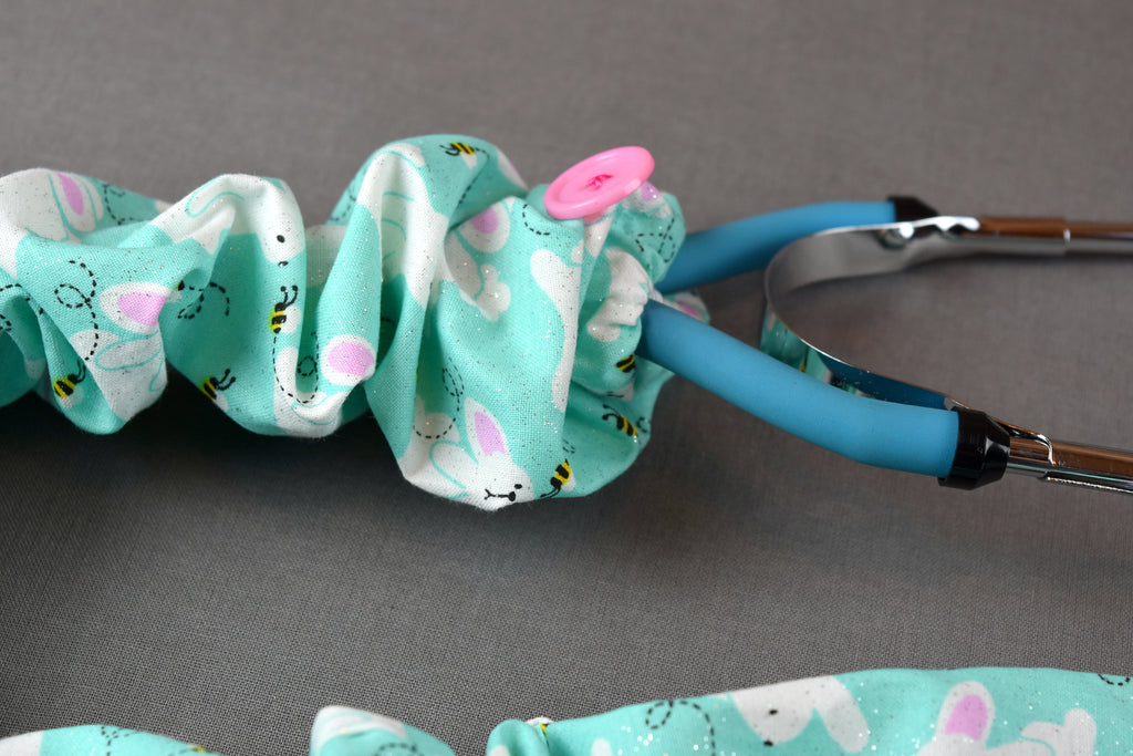 Stethoscope Cover - Easter Bunnies and Bees
