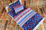 American Girl Doll Bedding - 18 Inch Doll Bedding Set - Nautical Anchors