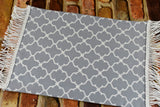 Dollhouse Miniature Rug - Gray Quatrefoil