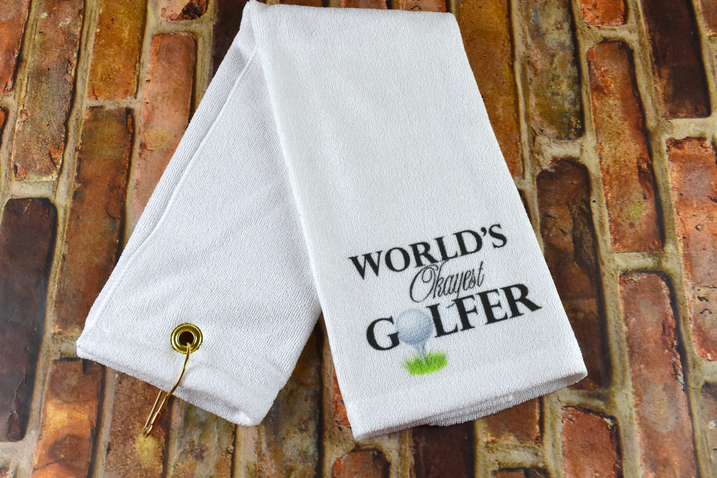 Golf Towel - World's Okayest Golfer