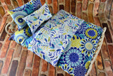 American Girl Doll Bedding - 18 Inch Doll Bedding Set - Blue Floral