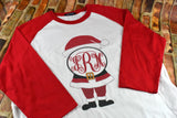 Santa Monogram Women's Raglan Shirt