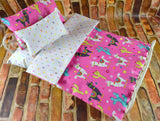 American Girl Doll Bedding - 18 Inch Doll Bedding Set - Llamas
