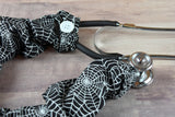 Stethoscope Cover - Halloween Spider Webs