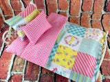 American Girl Doll Bedding - 18 Inch Doll Bedding Set - Patchwork