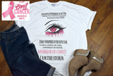 Women's Breast Cancer T-shirt - Ribbon Eye