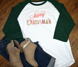 Merry Christmas Women's Raglan Shirt