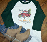 Women's Christmas Raglan Shirt - Christmas Movie Watching Shirt