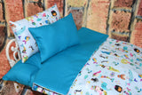 American Girl Doll Bedding - 18 Inch Doll Bedding Set - Mermaids