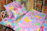 American Girl Doll Bedding - 18 Inch Doll Bedding Set - Butterflies