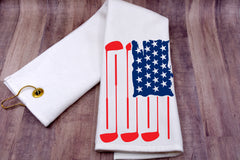Golf Towel - Golf Flag