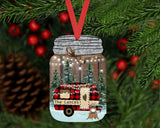 Christmas Ornament - Personalized Mason Jar Camper