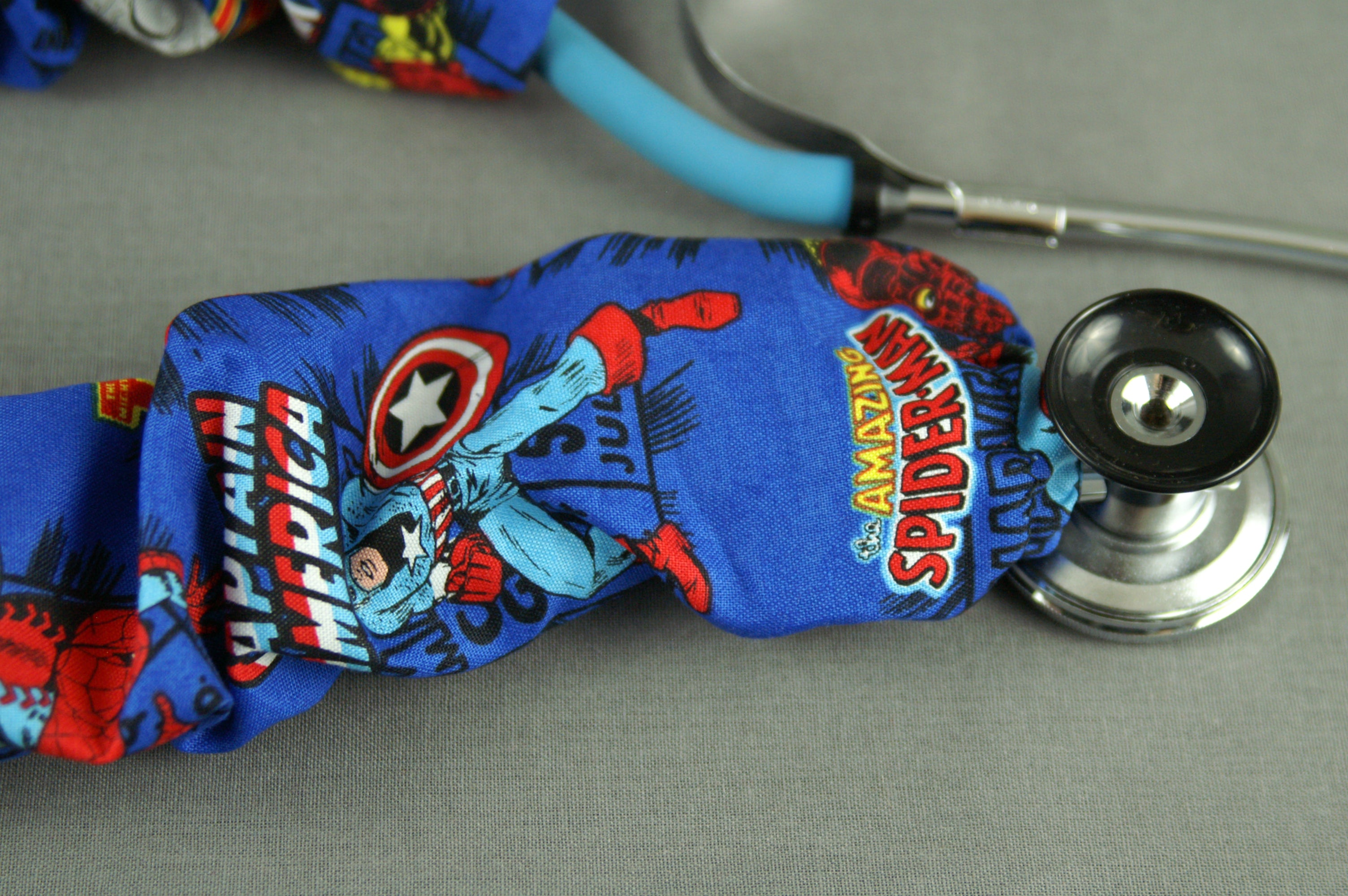 Stethoscope Cover - Marvel Avengers Blue