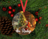 Christmas Ornament - Personalized Family Santa Scene