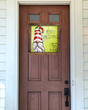 Door Hanger - Personalized Merry Christmas Gnome