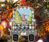 Christmas Ornament - Personalized Christmas Truck Gnomes