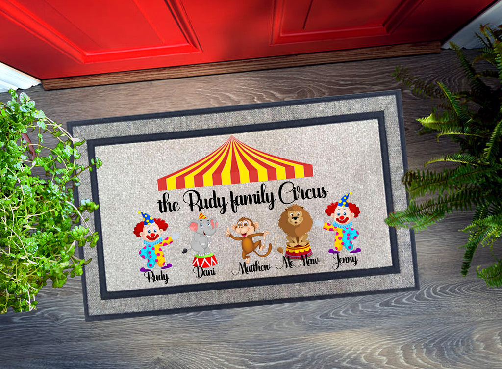Welcome Mat - Personalized Family Circus